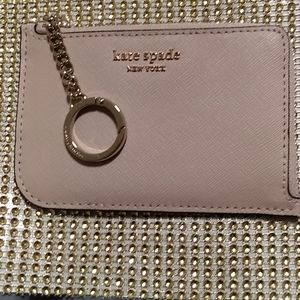 Kate Spade NWT light beige key and card holder